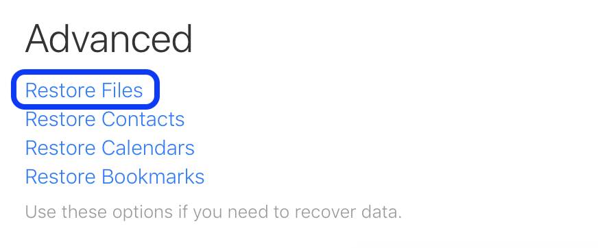 how to recover lost icloud drive documents walkthrough 2