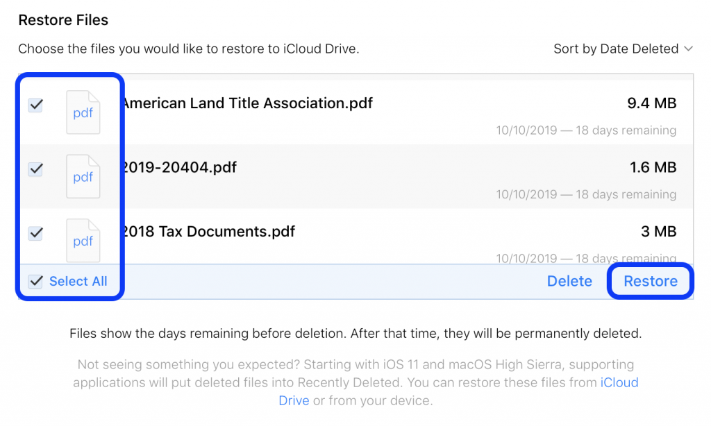 how to recover lost icloud drive documents walkthrough 3 1