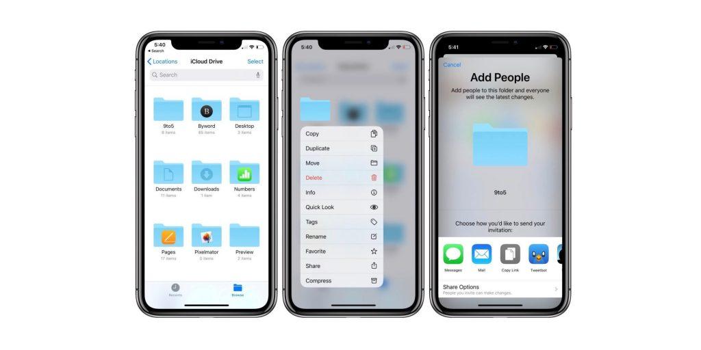 how to share icloud drive folders iphone ipad lead