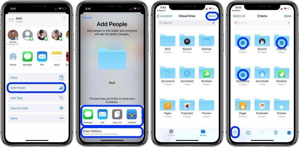 how to share icloud drive folders iphone ipad walkthrough 2