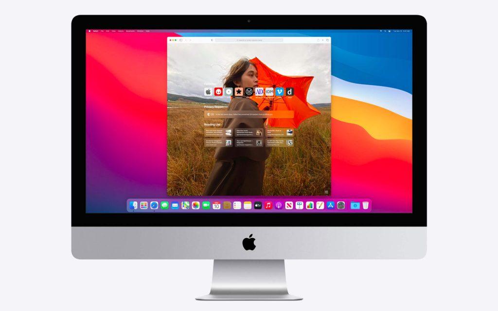 Nov Safari na iMacu Big Sur